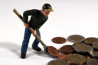 geld-schaufeln