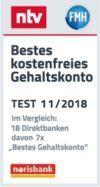 norisbank TOP Girokonto - ntv bestes kostenfreies Girokonto